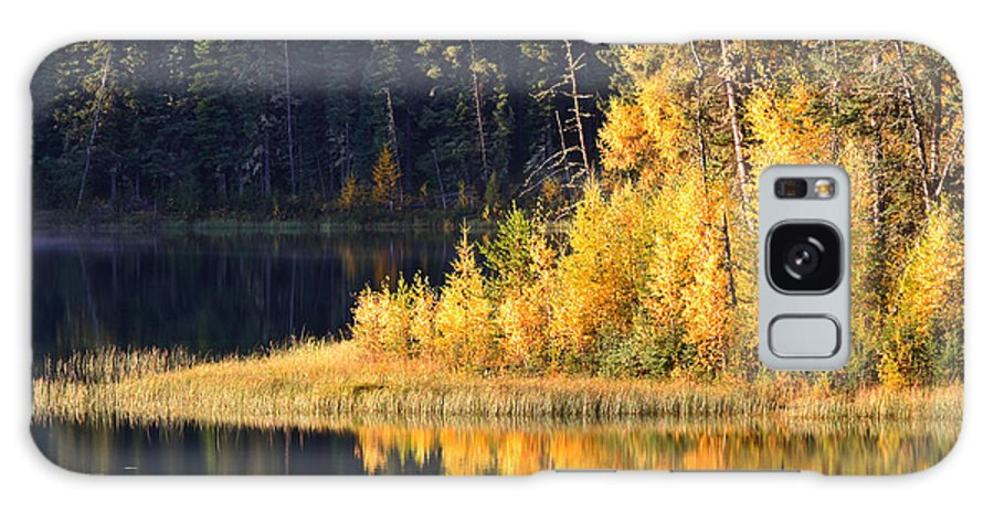 Fall Galaxy S8 Case featuring the photograph Water Reflection At Jade Lake In Northern Saskatchewan by Mark Duffy