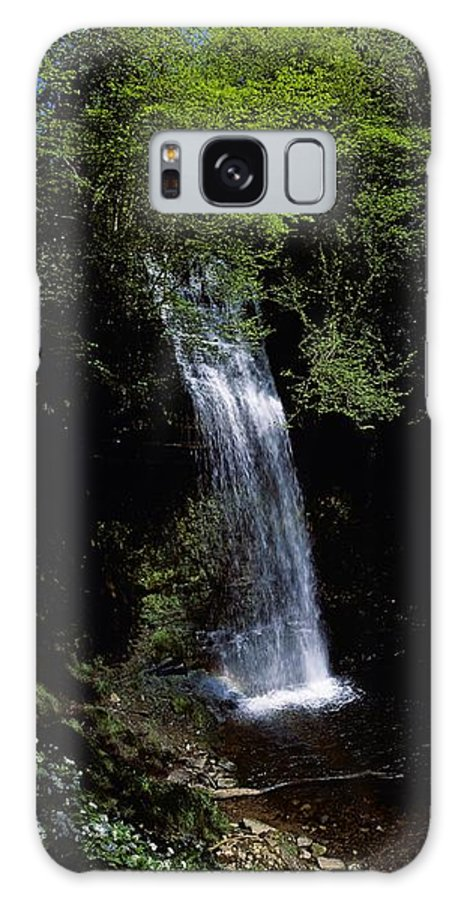 Cloud Galaxy S8 Case featuring the photograph Waterfall In A Forest, Glencar by The Irish Image Collection