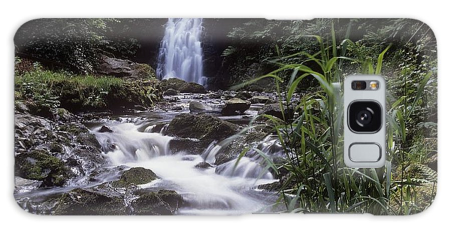 Co Antrim Galaxy S8 Case featuring the photograph Waterfall In A Forest, Glenoe by The Irish Image Collection