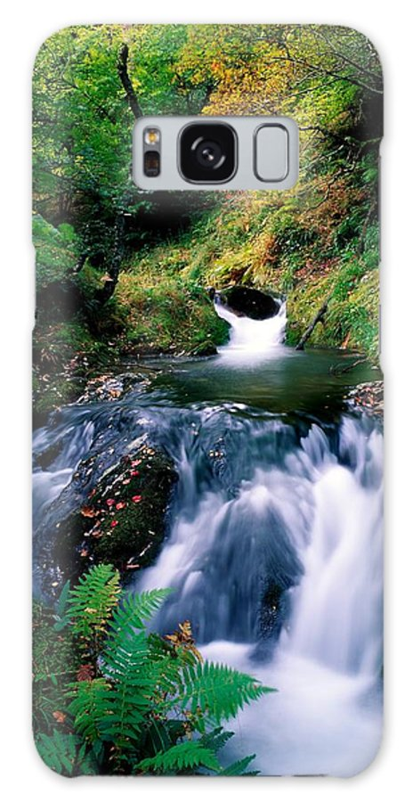 Calm Galaxy S8 Case featuring the photograph Waterfall In The Woods, Ireland by The Irish Image Collection