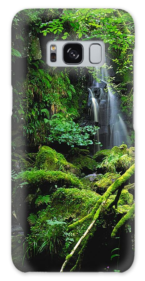 Beauty In Nature Galaxy S8 Case featuring the photograph Waterfall, Sloughan Glen, Co Tyrone by The Irish Image Collection