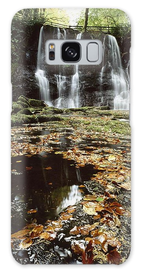 Autumn Galaxy S8 Case featuring the photograph Waterfalls, During The Autumn, Glenoe by The Irish Image Collection