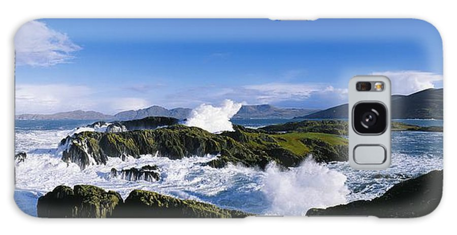 Attractions Galaxy S8 Case featuring the photograph Waves Breaking Over Rocks, West Cork by The Irish Image Collection