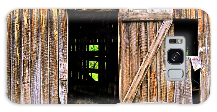 Barn Galaxy S8 Case featuring the photograph Weathered Barn Door by Marty Koch