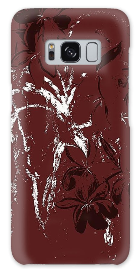 Floral Galaxy S8 Case featuring the digital art Weeping by Mark Moore