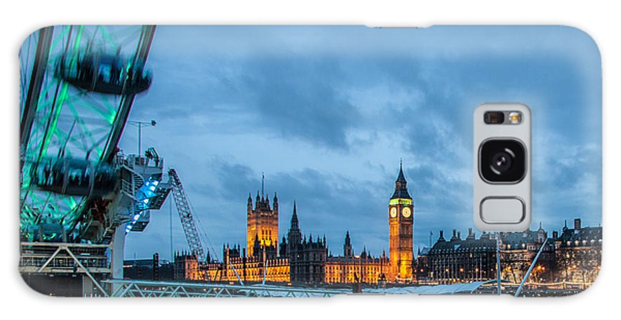 Millennium Wheel Galaxy S8 Case featuring the photograph Westminster And The London Eye by Dawn OConnor