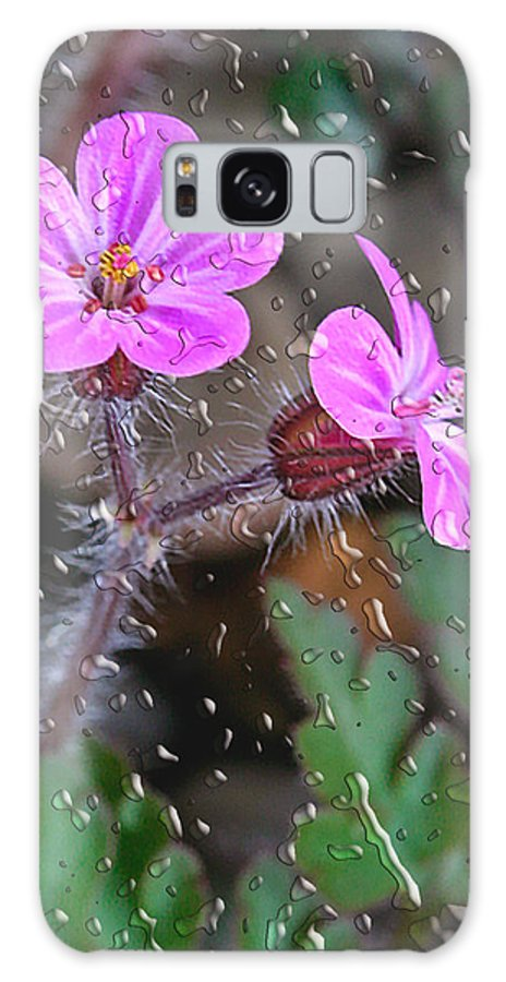Flower Galaxy S8 Case featuring the photograph Wet Geranium by Jean Noren