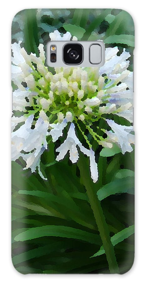 Nature Galaxy S8 Case featuring the digital art White Flowers by Eva Kaufman