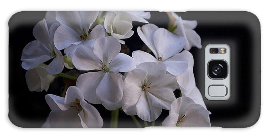 Geranium Galaxy S8 Case featuring the photograph White Geranium by Faith Harron Boudreau