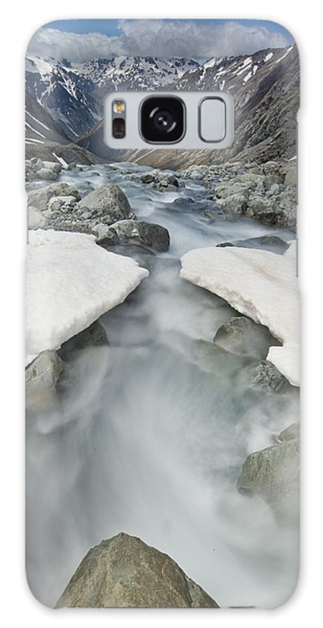00439775 Galaxy S8 Case featuring the photograph White River Rapids Arthurs Pass Np by Colin Monteath