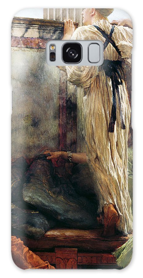 Who Is It? Galaxy S8 Case featuring the painting Who Is It by Sir Lawrence Alma-Tadema