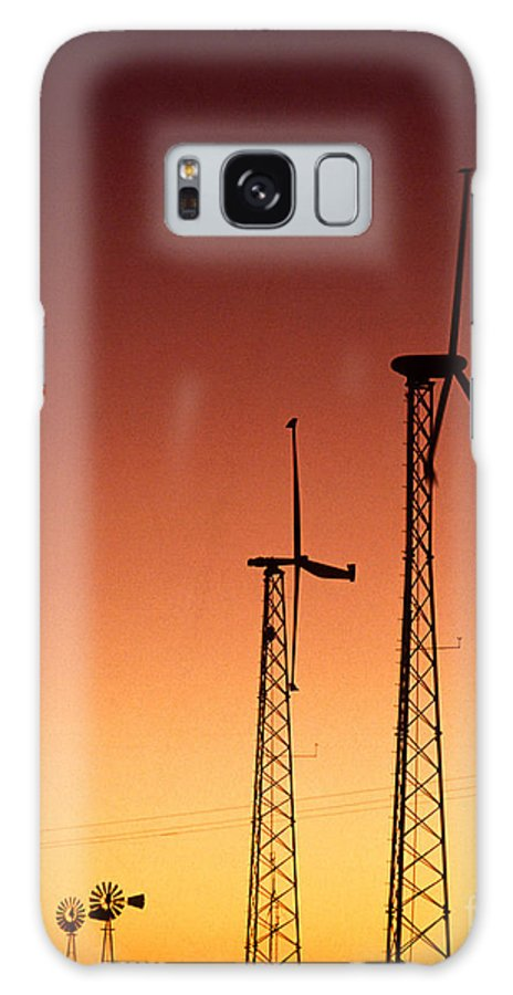 Wind Turbine Galaxy S8 Case featuring the photograph Wind Power For Agriculture by Science Source
