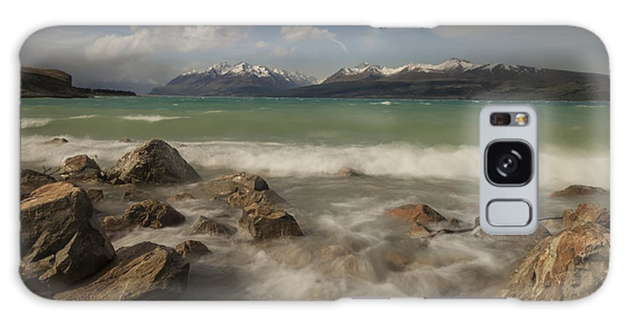 00498849 Galaxy S8 Case featuring the photograph Wind Storm On Lake Pukaki by Colin Monteath