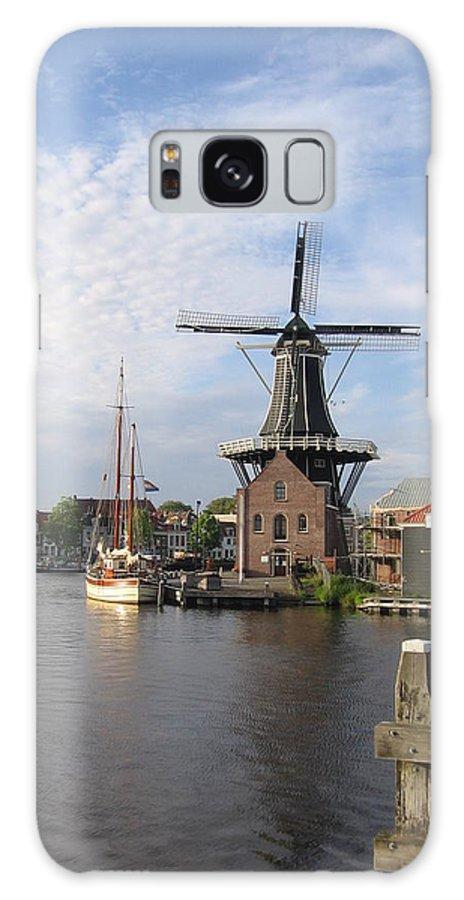Netherlands Galaxy S8 Case featuring the photograph Windmill In The Nederlands by Karen Molenaar Terrell