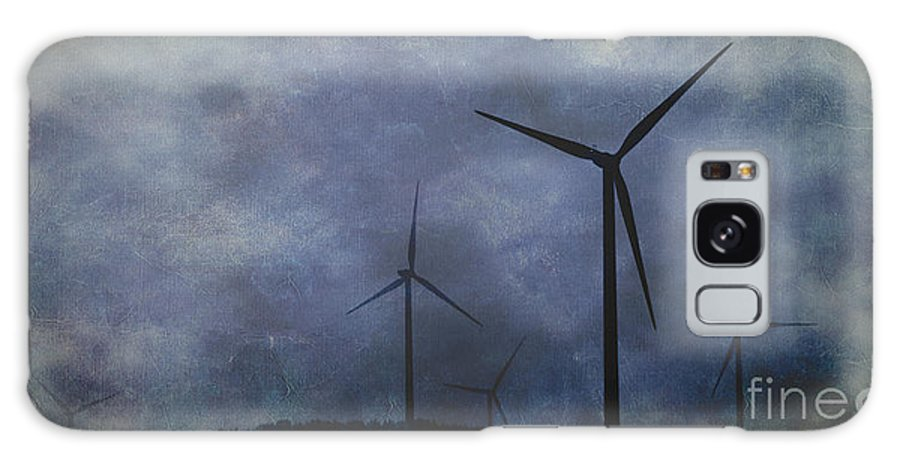 Texture Galaxy S8 Case featuring the photograph Windmills. by Clare Bambers