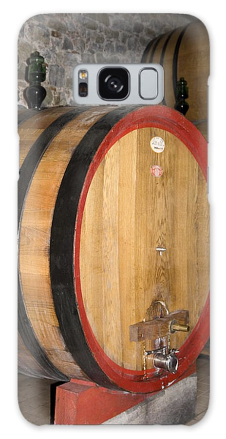 Wood Wine Barrels Galaxy S8 Case featuring the photograph Wine Aging by Sally Weigand