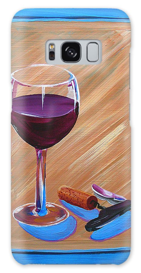 Painting Galaxy S8 Case featuring the painting Wine And Cork by Michael Baum