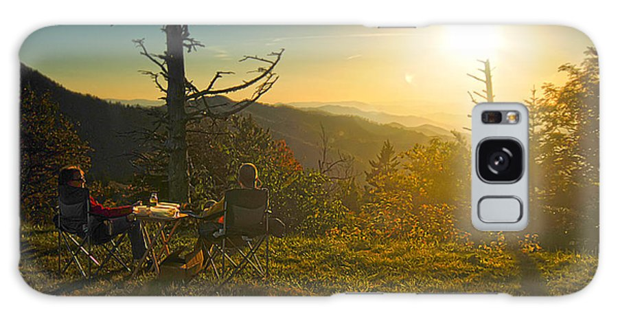 Mountain Top Wine And Dine Galaxy S8 Case featuring the photograph Wine And Dine Millionaires View by Randall Branham