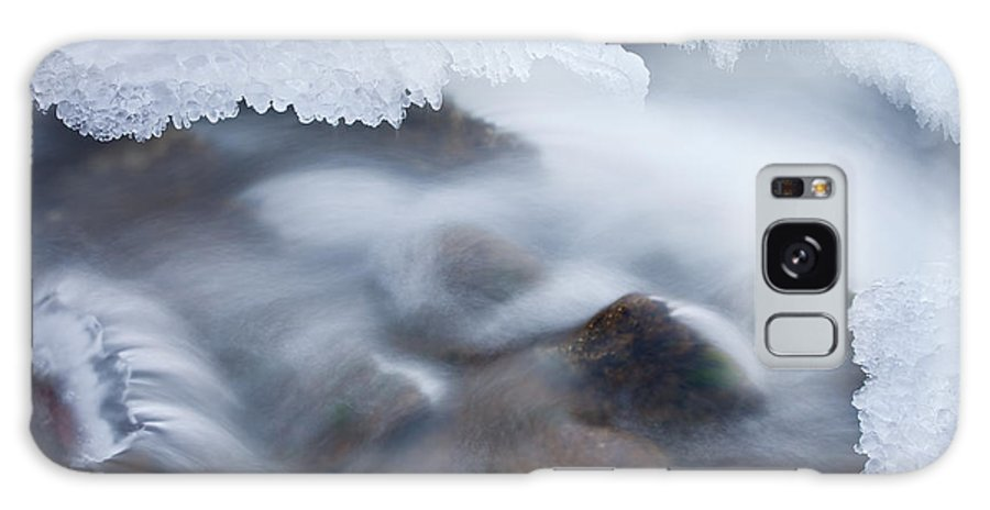 Beautiful Galaxy S8 Case featuring the photograph Winter Creek Framed By Ice by Dean Pennala