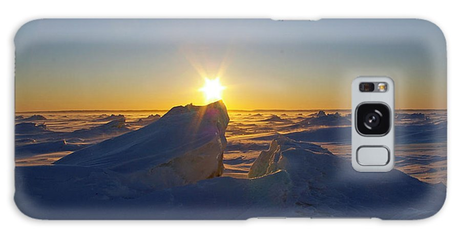 Landscape Galaxy S8 Case featuring the photograph Winter Ice Ridge Churchill River Manitoba by Desmond Raymond