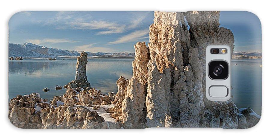 Blue Galaxy S8 Case featuring the photograph Winter Shoreline Mono Lake by Dean Pennala