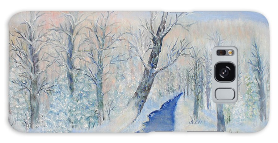 Winter Galaxy Case featuring the painting Winter Sunrise by Ben Kiger