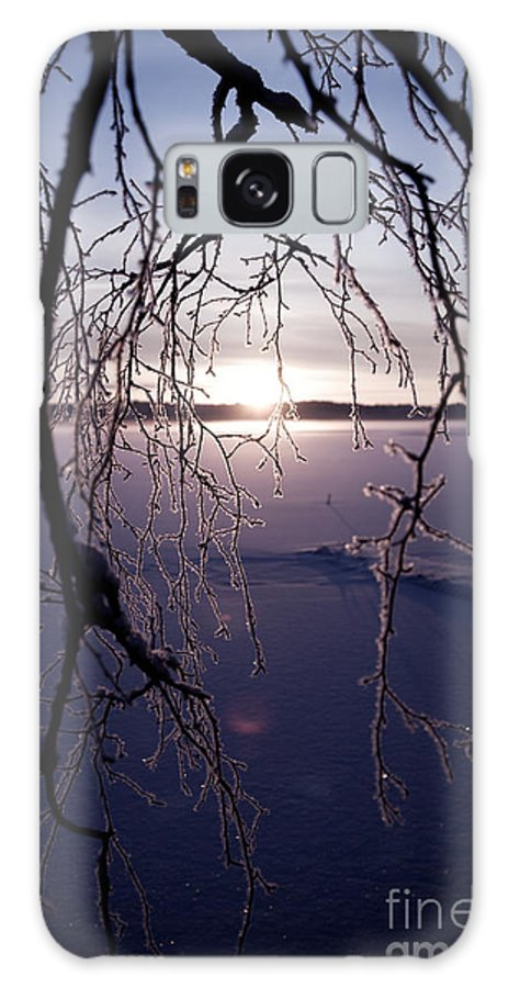 Beautiful Galaxy S8 Case featuring the photograph Winter Sunset by Kati Finell