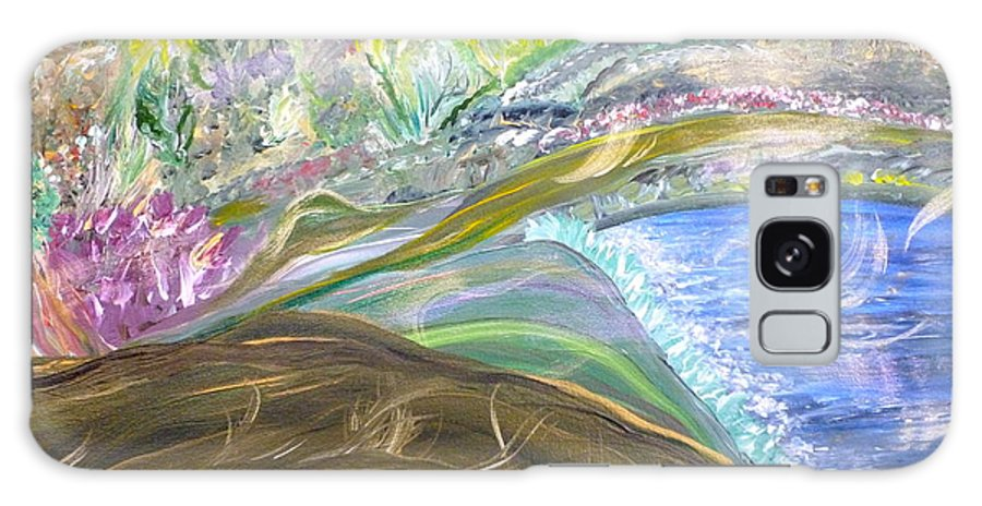 Whimsical Landscape Galaxy S8 Case featuring the painting Wistful Dreams by Sara Credito