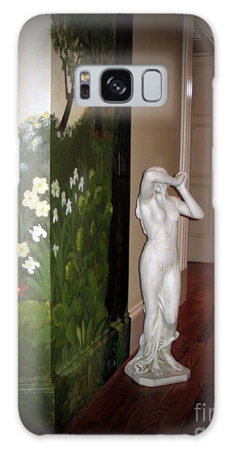 Statue Galaxy S8 Case featuring the photograph Woeful Maiden by Renee Trenholm