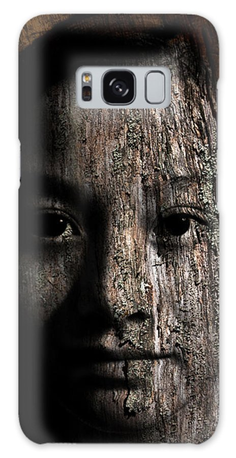 Girl Galaxy S8 Case featuring the painting Woodland Spirit by Christopher Gaston