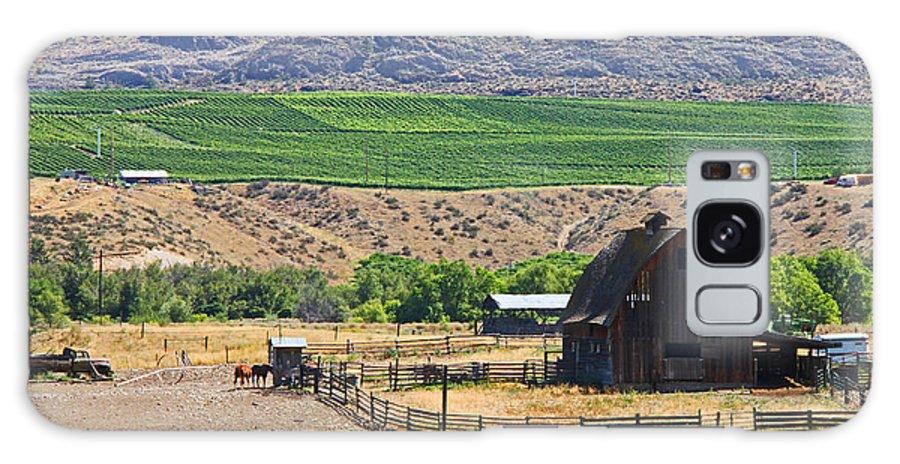 Farm Galaxy S8 Case featuring the photograph Working Farm by Nancy Harrison