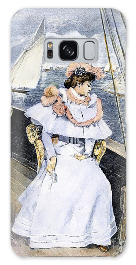 1894 Galaxy S8 Case featuring the photograph Yachting Costume, 1894 by Granger