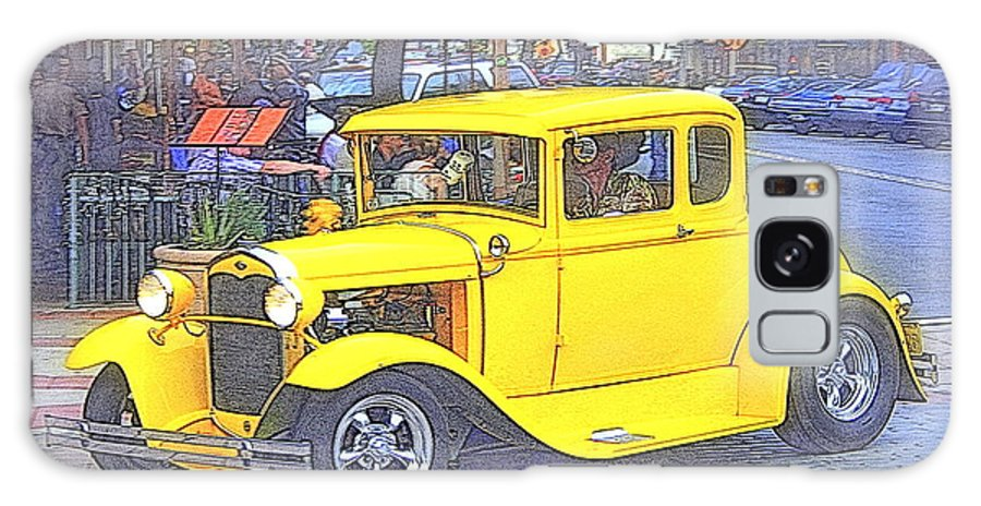 Car Galaxy S8 Case featuring the photograph Yellow 1930's Ford Roadster by Randall Thomas Stone