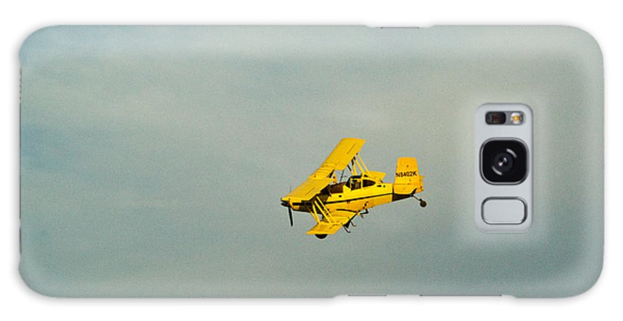 Yellow Galaxy S8 Case featuring the photograph Yellow Airplane Crop Duster by Douglas Barnett