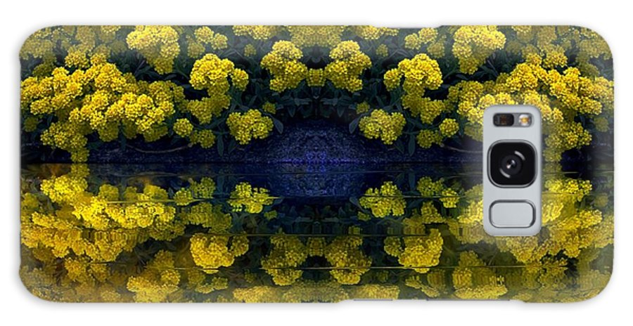 Greeting Cards Galaxy S8 Case featuring the digital art Yellow Flowers by Dale  Ford