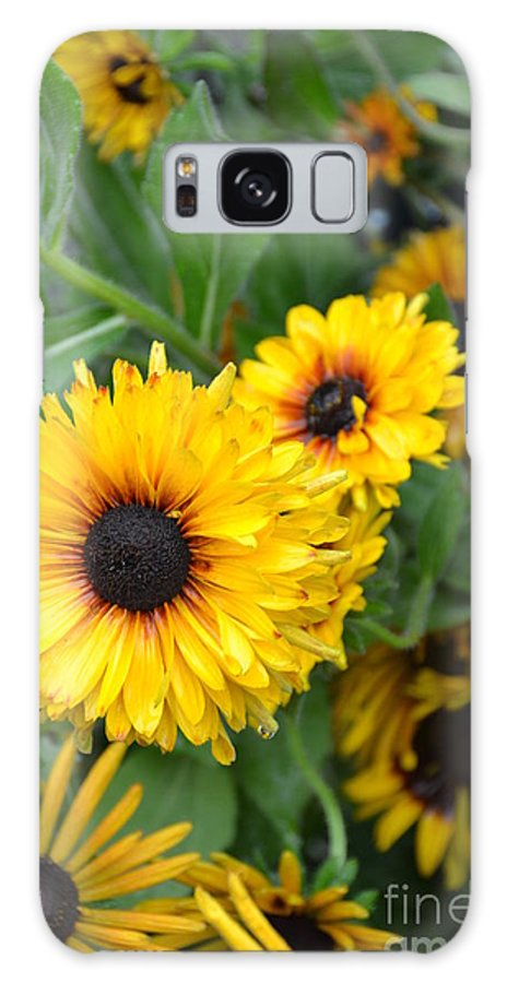 Garden Galaxy S8 Case featuring the photograph Yellow Garden by Bonnie Myszka