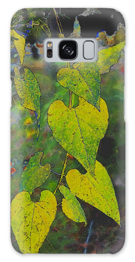 Leaves Galaxy S8 Case featuring the photograph Yellow Heart Leaves IIi Photoart by Debbie Portwood