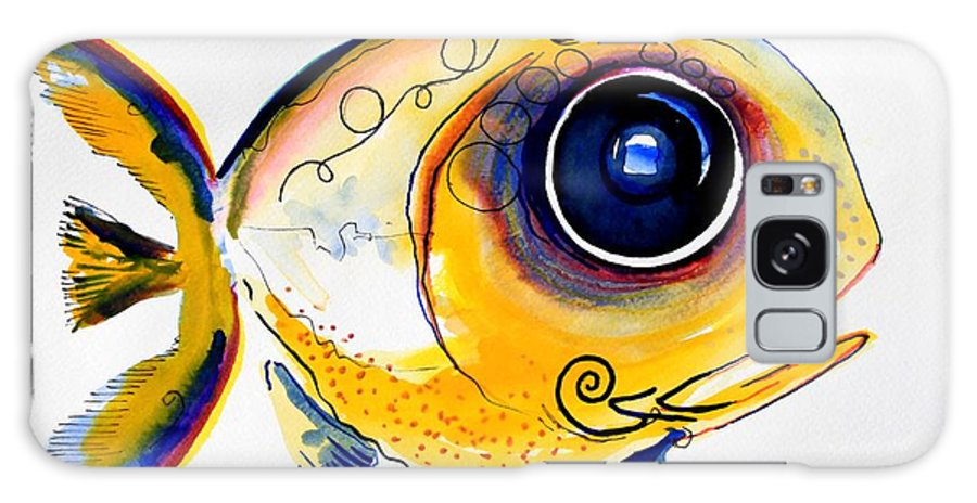 Fish Galaxy S8 Case featuring the painting Yellow Study Fish by J Vincent Scarpace