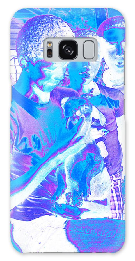 Children Galaxy S8 Case featuring the photograph Young Men With A Dog by Louis Nugent