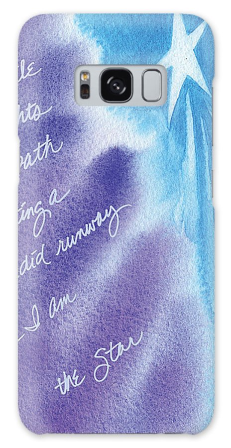 Galaxy S8 Case featuring the painting Your Smile Lights My Path by Tara Moorman