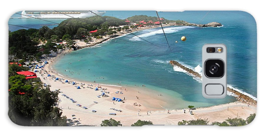 Zip Line Galaxy S8 Case featuring the photograph Zip Line In Labadee by Carol Bradley