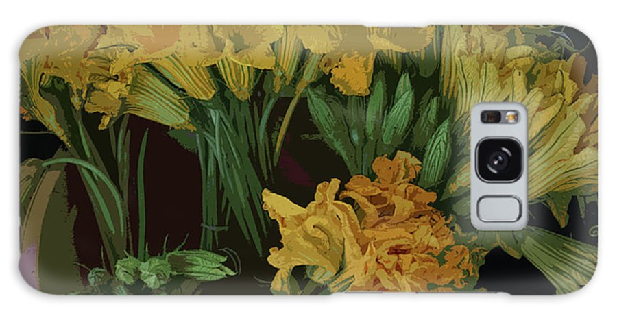 Zuchinni Flower Galaxy S8 Case featuring the photograph Zuchinni Flower Abstracted by David Bearden