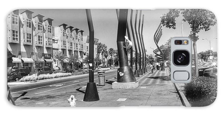 Black And White Galaxy S8 Case featuring the photograph 7th Street View by Philip Hennen