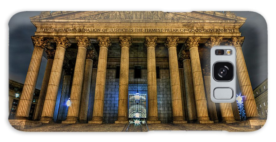 Architecture Galaxy S8 Case featuring the photograph ... And Justice For All by Evelina Kremsdorf