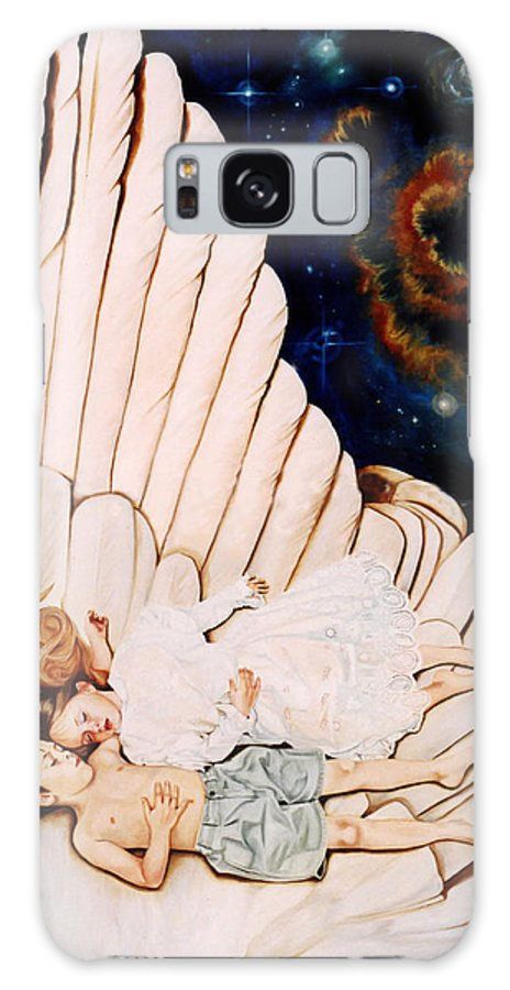 Be Still And Know That I Am God Galaxy S8 Case featuring the painting Be Still by Teresa Carter