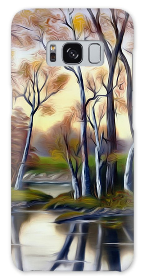 Birch Galaxy S8 Case featuring the painting Birch Bay Lagoon Dreamy Mirage by Claude Beaulac