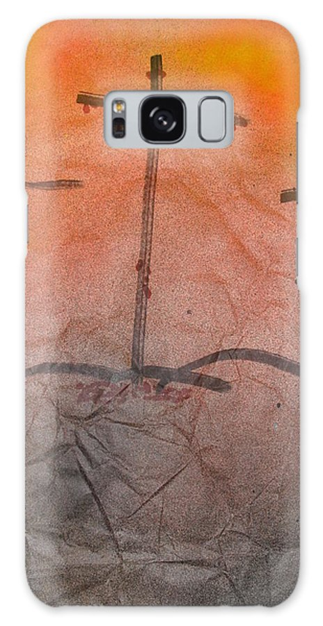 Christian Art Galaxy S8 Case featuring the painting Calvary by Troix Johnson