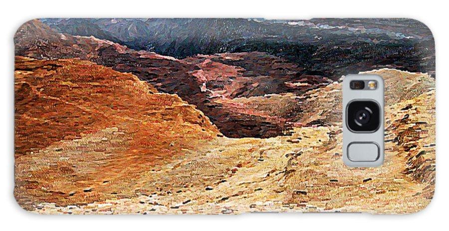 Digital Galaxy S8 Case featuring the painting Dessert Landscape Near Eilat by Ricardo Szekely