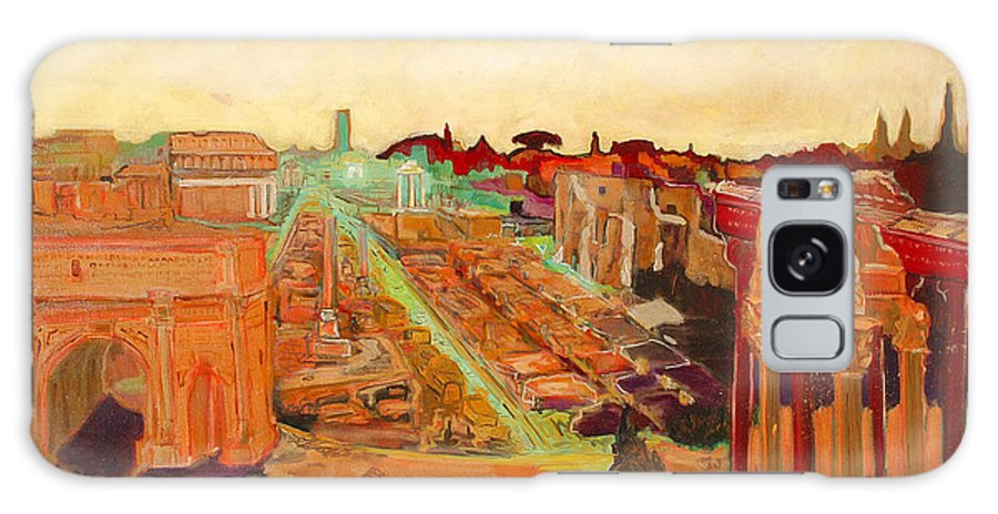 Rome Galaxy Case featuring the painting Foro Romano by Kurt Hausmann