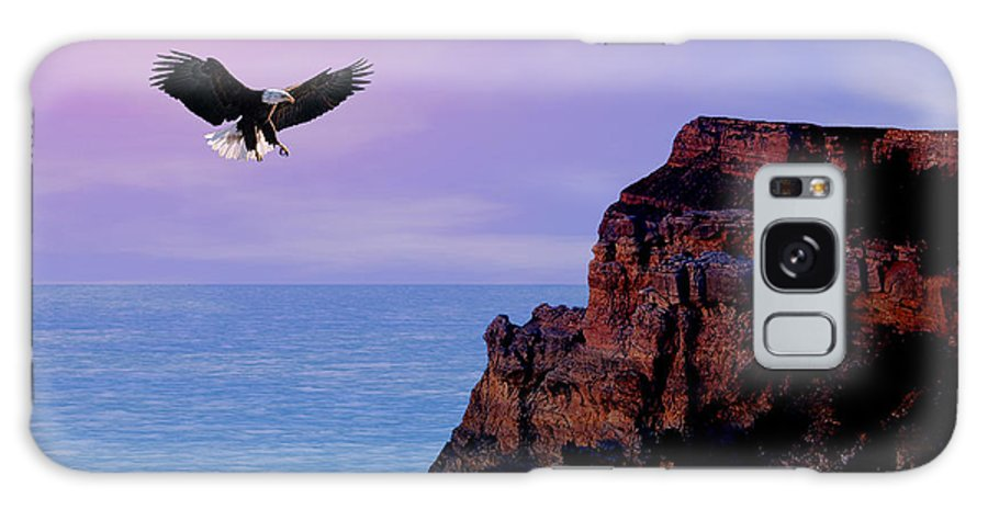 Eagle Galaxy Case featuring the digital art I'm Free To Fly by Evelyn Patrick